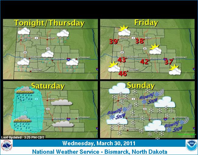 Map North Dakota Weather