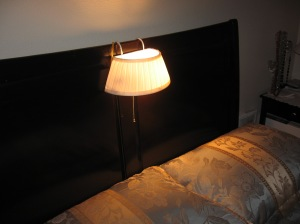 A new bed lamp from the Vermont Country Store catalogue.