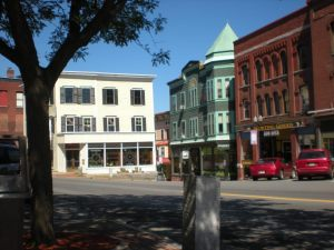 Downstreet, Bellows Falls, Vermont (Photo by Mary Narkiewicz.)