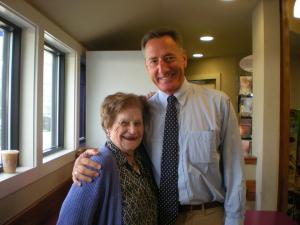 Nancy Narkiewicz and Governor Shumlin (Photo by Mary Narkiewicz.)