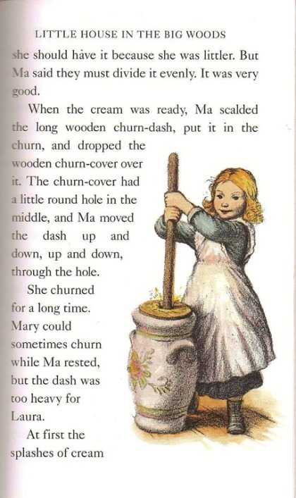 "From ""Little House in the Big Woods"" by Laura Ingalls Wilder; illustration by Garth Williams."