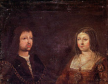 Ferdinand and Isabella of Spain.