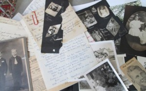 family letters and photographs