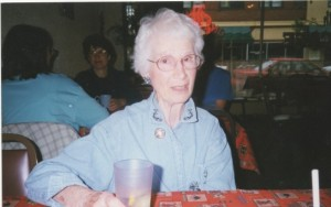 Aunt Roberta in about 1997. She and I were having dinner at Applebee's in Bismarck.
