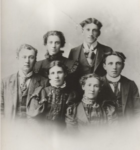 Nettie (top row) with her brothers and sisters. This photograph was taken close to the time of her first marriage.