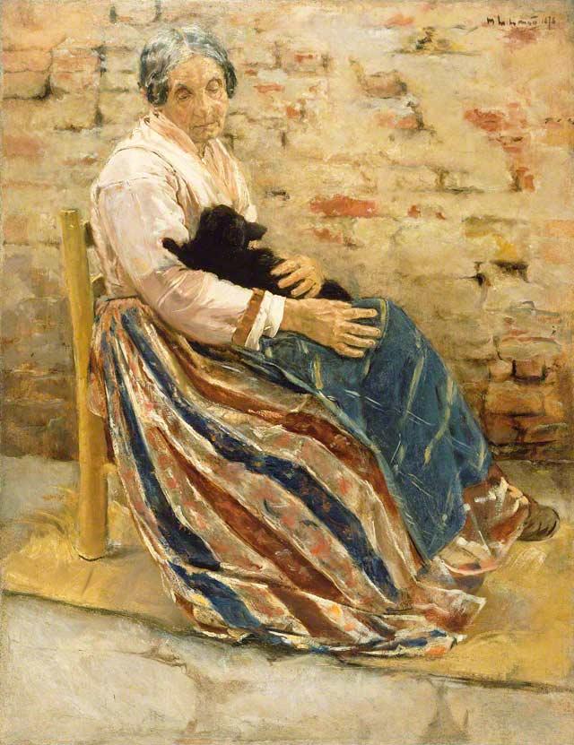 Max Liberman - Page 2 Woman-and-cat_max-liberman_1878