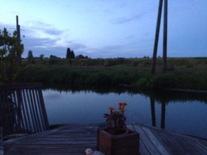 The river from my houseboat deck on the evening of August 26th.